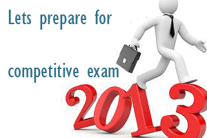 competitive exam 2013